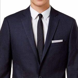 Calvin Klein Sports Coat - Blue/Black Checkered